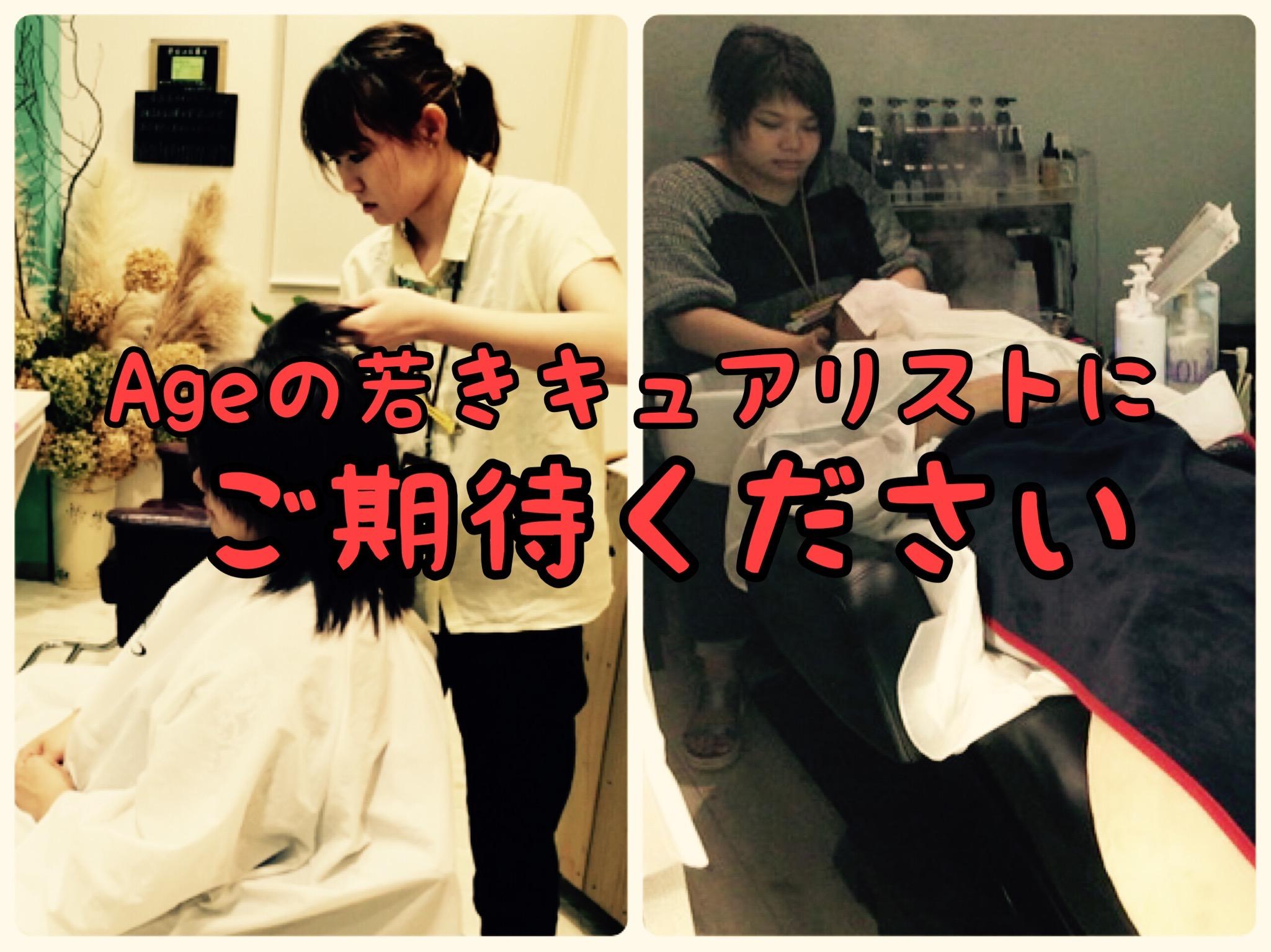 【猛練習中】若き2人の当店のエースが日本最高峰の頭皮ケア技術を習得中です