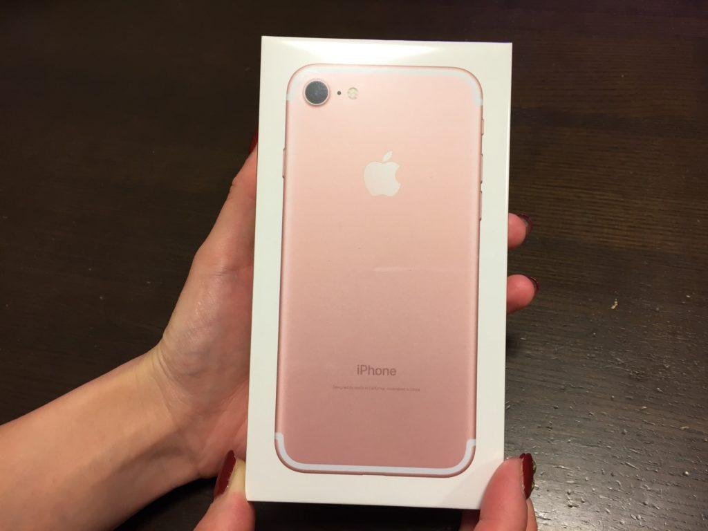 【歓喜!】入手困難 iPhone7 ローズゴールドがやってきた!!