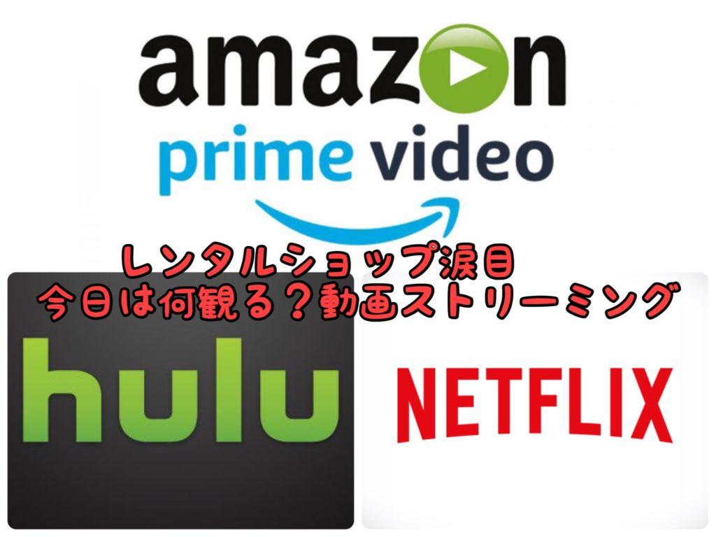 【寝不足】hulu・Netflix・primevideo これがあればレンタルショップ必要なくない?