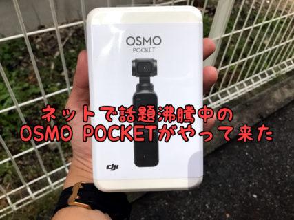 【レビュー】話題沸騰中の未来のカメラOSMO POCKETがやってきました