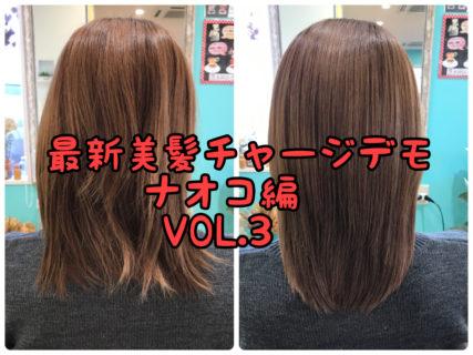 【デモ・なおこ編】髪の毛本来のツヤと輝きを取り戻す「美髪チャージ」メニューの開発VOL.3