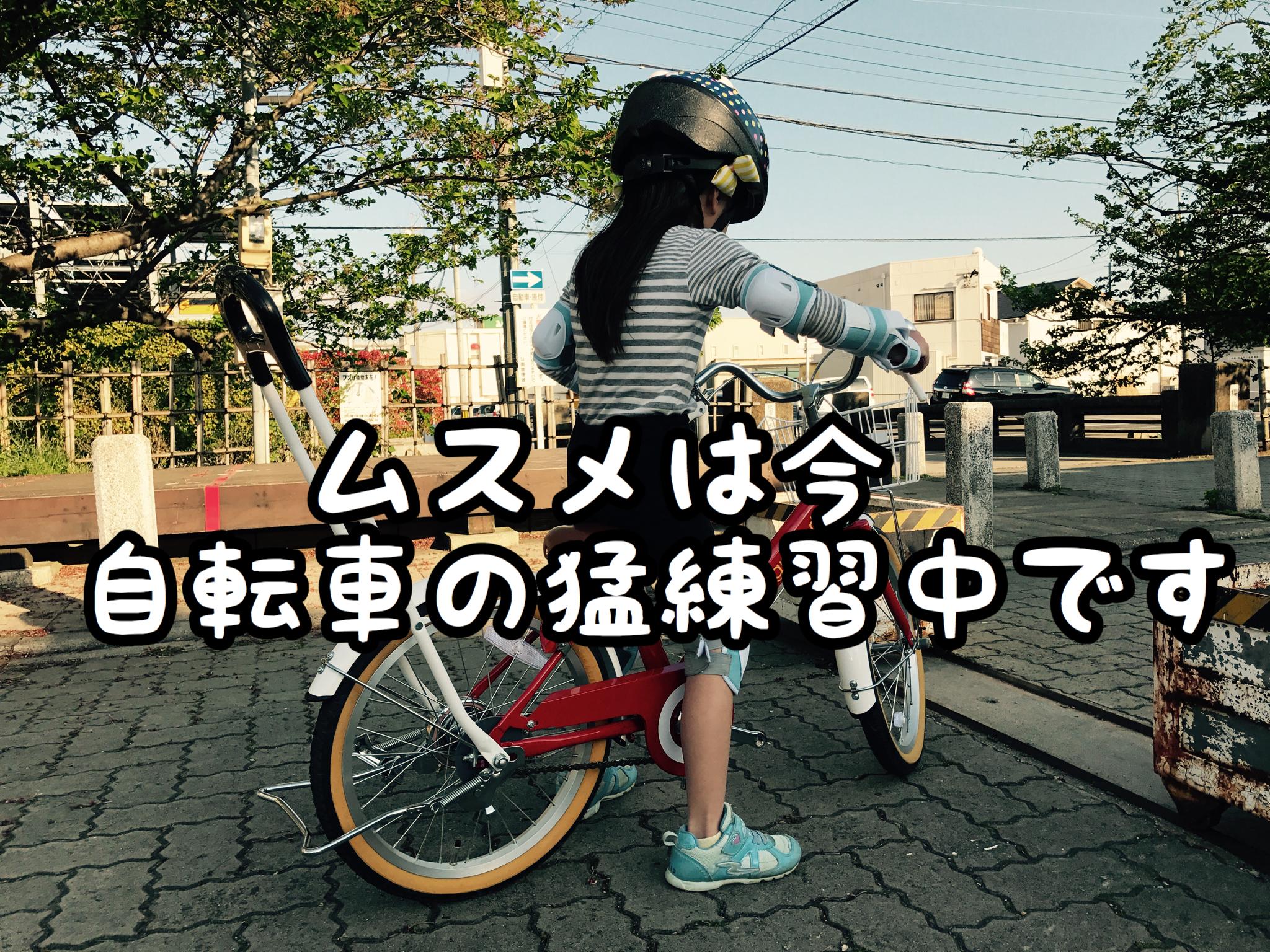 【自転車】補助輪が外れスイスイこげるようになるまであとちょっと!!