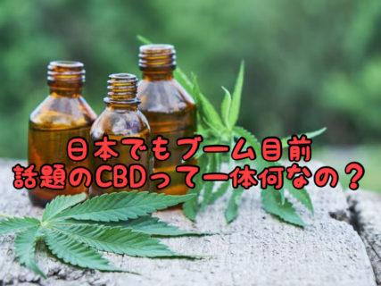 """【トレンド】海外で話題になってる""""CBD""""製品って知ってる?"""