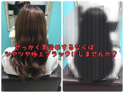 【和漢】髪を黒く染めるなら極ツヤナチュラルブラックにしませんか?