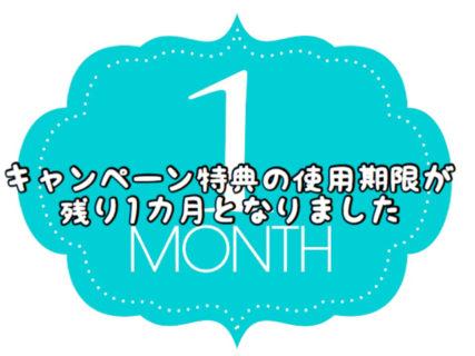 【ご注意】キャンペーンチケットの使用期限が残り1ヶ月となりました