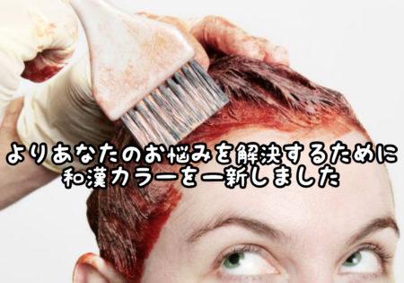 【細分化】和漢カラーの質感アップを求めてより柔軟に髪質に合わせることができるようになりました