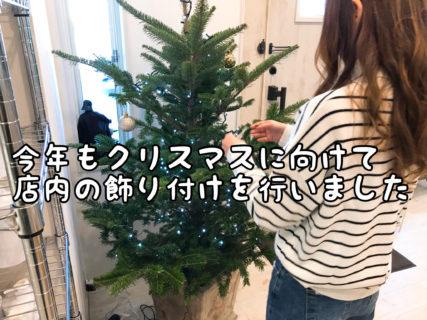【装飾】クリスマスが待ち遠しい!店内ディスプレーを冬仕様に変えてみました