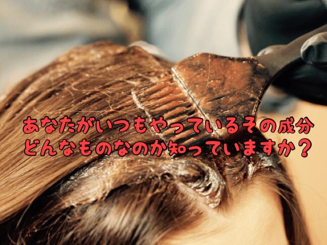 【薬剤】あなたが普段美容室でやってもらってるヘアカラーの成分って知ってる?