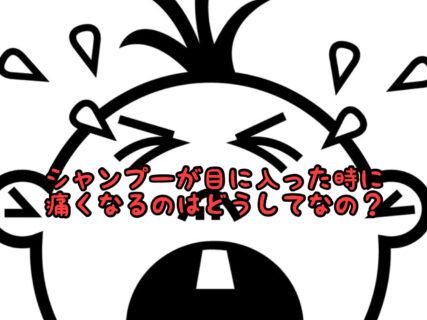 【ケアアイテム】シャンプーが目に入った時に激痛が走るのはどうしてなの?