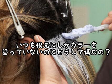 """【ヘアカラー】根元のリタッチ染めを""""あえて選んでる""""のにどうして毛先が傷むの?"""