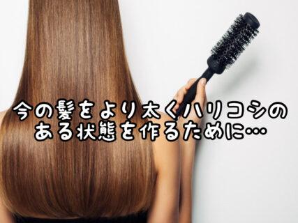 """【育毛】どんなケアをしたら今生えている髪の毛を""""太く""""しっかりした状態にできるの?"""